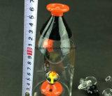 Conduite d'eau en verre de grand de becher recycleur impétueux de l'eau avec la cuvette en verre de 14.4 millimètres
