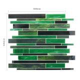 Nuova mattonelle di marmo verdi tagliate di vetro del turchese di disegno mano