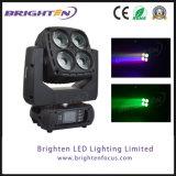 극적인 LED RGBW 선잠기 점화 이동하는 헤드 4*60W 세척