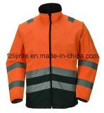 Высокая куртка безопасности Workwear видимости с отражательной лентой
