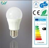 Brightness élevé 3000k 7W E27 P50 DEL Bulb avec du CE RoHS