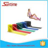 Bande plate aérobie de gymnastique, bandes d'exercice de résistance de latex, bandes plates de résistance pour étirer Pilates et yoga