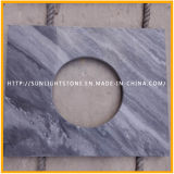 Polished naturale White/Black Wooden Stone Marbles per Flooring/Countertop/Paving/Wall