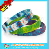 Sia Sides Fashion Comouflage Silicone Wristband con Debossed che Printed (TH-8534)