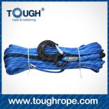 Full Set로 Hook Thimble Sleeve Packed를 가진 수동 Hand Winch Dyneema Synthetic 4X4 Winch Rope