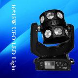 고성능 16*12W LED 이동하는 맨 위 광속 스캐너 빛 FOT 디스코