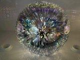 Освещение светильника круглого стекла 3D вися в 3 по-разному размерах для трактира/столовой