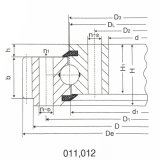 Schwere Geräten-Kreuz-Rollen-externer Gang-Schwenktisch-Ring für Doosan