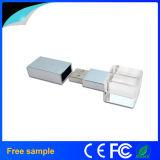 Диск USB выдвиженческой гравировки логоса четырехугольника подарка кристаллический