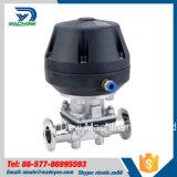 Válvula de diafragma pneumática sanitária da braçadeira do aço inoxidável (DY-V073)