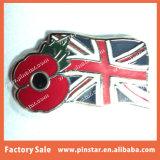 Divisas baratas a granel del Pin de la solapa del indicador de Canadá de la flor de la amapola del recuerdo