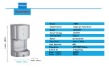 EMCの証明書の最も広く使用のEcoのABSボディXlerator新しい自動赤外線センサーの単一の高速洗面所のジェット機手のドライヤー(AK2630T)