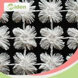 Tela química do laço da flor branca do poliéster de Dyeable 100% das cores