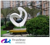 Скульптура напольного украшения гранита квадрата улицы ландшафта пешеходного абстрактная
