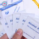 Tiges non-tissées d'alcool, garnitures médicales d'alcool, garniture de préparation d'alcool
