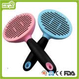 Escova para cães de remoção de cabelo auto-limpador de animais de estimação (HN-PG347)
