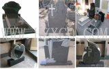 Headstone di pietra grave Denkmal della pietra della tomba del monumento bianco del granito