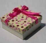 Petite caisse d'emballage exquise de cadeau de papier d'imprimerie avec la bande