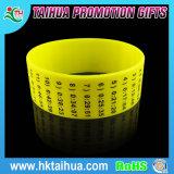 Braccialetto su ordinazione della gomma del braccialetto del silicone del Wristband del silicone di colori completi di modo