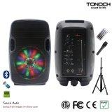 Profesional 8 pulgadas de rectángulo portable del altavoz con la luz del RGB del programa