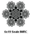 corda galvanizzata 6X19W+Iwrc del filo di acciaio 6X19s+Iwrc