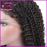아기 머리를 가진 자연적인 보는 아프로 비꼬인 컬 Virgin 브라질 머리 레이스 정면 가발 100% 사람의 모발 가득 차있는 레이스 가발