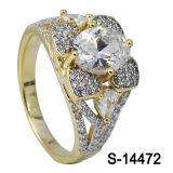 Anello di regolazione d'argento di Hotsale 925 Steling micro con il grande Zircon.