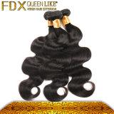 自然で黒く安いバージンのマレーシアの毛の100%年のバージンの未加工毛
