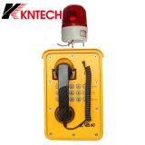 Intercomunicador del SIP de la seguridad para el teléfono impermeable Knsp-09 de la comunicación industrial