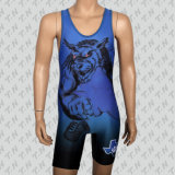 2017 Custom Design Heat-Transfer Wrestling Singlet
