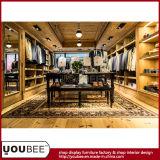 Vêtement Shopfitting, décoration d'hommes en bois plein de magasin de vêtements d'hommes