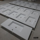 Lavabo acrilico di pietra di superficie solido di colore bianco sanitario degli articoli