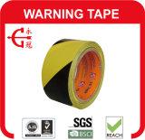 Черная & желтая лента опасности PVC