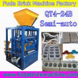 Bloc solide creux manuel faisant les machines Qt4-24b de centrale