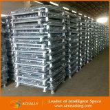 Depósito de almacenamiento apilable plegable de alambre de acero Contenedor de malla