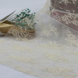 Wedding DressのためのナイロンEmbroidery Bridal Lace Fabric Trim
