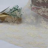 Embroidery di nylon Bridal Lace Fabric Trim per Wedding Dress