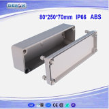 Caixa impermeável contínua 80X250X70mm da tampa IP66 ABS/PC Toyogiken