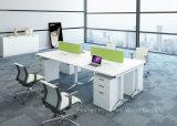 Poste de travail linéaire de bureau de Tableau d'ordinateur de 4 Seater pour le petit espace (HF-KD05)