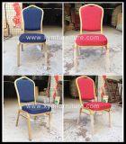 Banquete barato promocional del restaurante del hotel que cena la silla que empila de acero de aluminio del metal (XYM-L188)