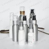 Kosmetische Aluminiumlotion-Flasche mit goldener/silberner Lotion-Pumpe (PPC-ACB-002)
