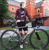 Luva curta personalizada poliéster 100% que dá um ciclo Jersey