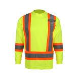 De Weerspiegelende T-shirt van uitstekende kwaliteit van het Werk van de Veiligheid met de Hals van de Bemanning