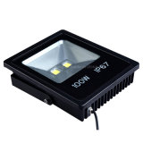 Projector magro do diodo emissor de luz 100W da lâmpada ao ar livre energy-saving do diodo emissor de luz iluminações da inundação do diodo emissor de luz do alumínio de 180 graus