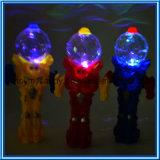 يتنازع [ترنسفورمنس] الإنسان الآليّ لعبة مع لون موسيقى, ضوء و3 ألوان
