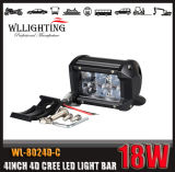 "4X4 4inch 18W CREE 4 "" 4D LED heller Stab mit 1800lm"