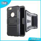 Sports pulsants de couleur d'accessoire noir de téléphone mobile exécutant la caisse de brassard pour l'iPhone 6