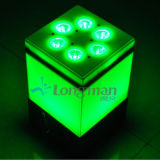 セリウム9*14W Rgbawuvの党および段階のための電池式の無線電信LEDの同価の据え付け品ライト