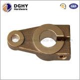 O CNC feito à máquina personalizado de bronze da elevada precisão morre peças sobresselentes da carcaça