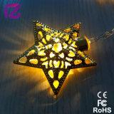 Luz da decoração do diodo emissor de luz, luz a pilhas, luz da corda da estrela